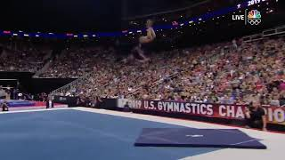 Simone Biles, in extreme slow motion