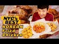 BEST Korean Fried Chicken In New York! RAMEN Chicken! SPICY C...