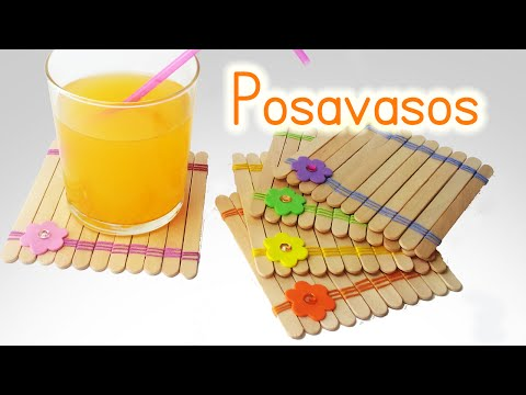 Manualidades: POSAVASOS con palitos/paletas de helado - DIY Innova Manualidades