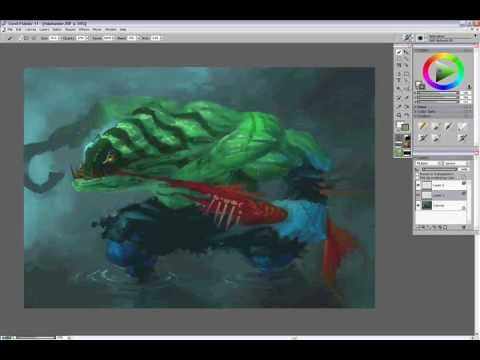 Tidehunter Dota 2 Art Paint Tidehunter Dota 2