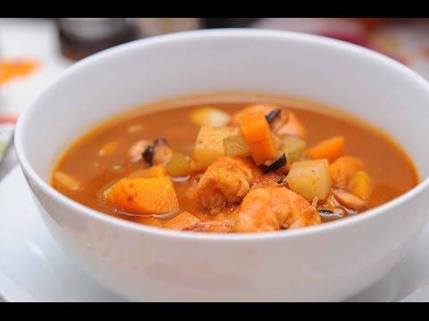 Caldo de camarón con pulpo - Receta fácil de preparar