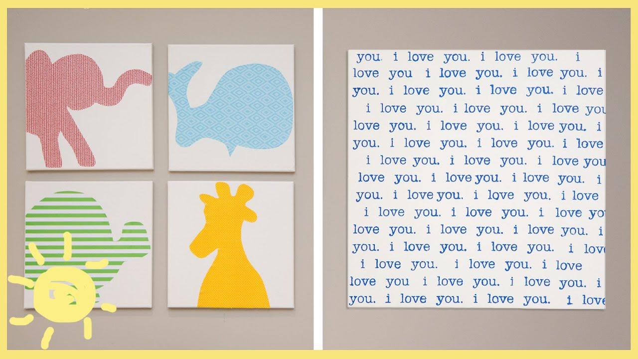 Wall Art Canvas Words : Diy canvas wall art