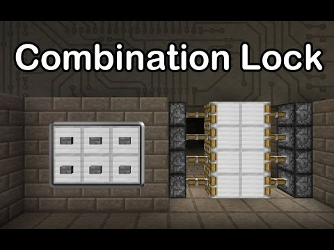 Minecraft Combination Lock 1000 Subscribers Special Compact Secure Extendable