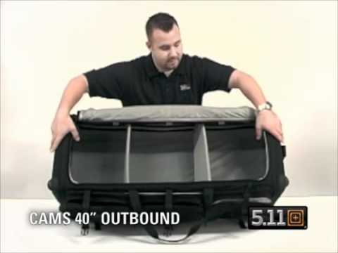 5.11 Tactical CAMS 40 Outbound Rolling Bag - YouTube