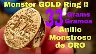 !! Anillo Monstrouso de ORO encontramos en La Playa !! Monster GOLD Ring Found at The Beach !!