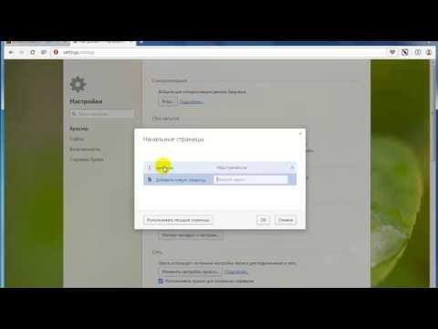 Как настроить стартовую страницу в браузере Opera