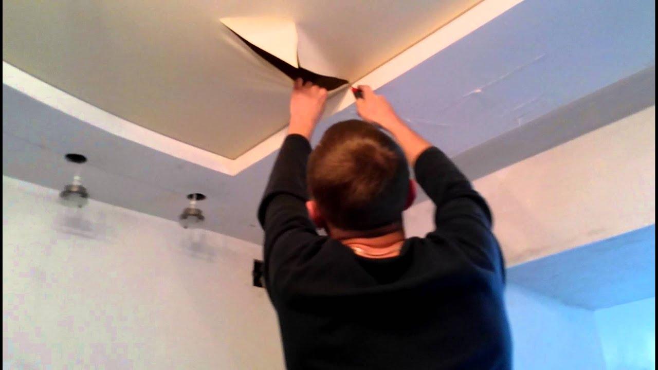 Ремонт натяжных потолков своими рук
