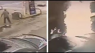 Car Crashes Into Gas Pump