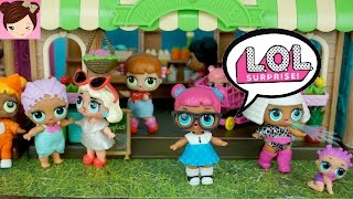 A Day in the Live of L.O.L Surprise Dolls - Playing with Lil Outrageous Littles & Mini Doll Town