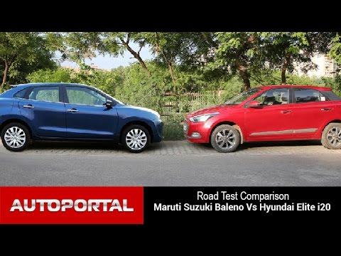 Maruti Suzuki Baleno Vs Hyundai Elite i20 Test Drive Comparison - Auto Portal