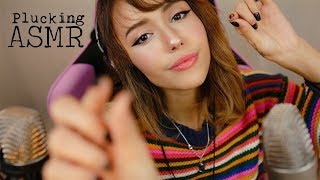 ASMR Plucking Away your Anxiety & Worries ~Sending you love ~ Repetitive Words ~