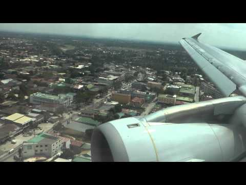 Tiger Air A320 Landing Clark Airbase