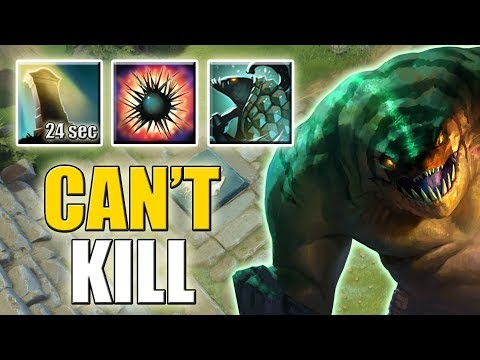 40% Cooldown Reduction. Impossible to Kill with Reincarnation [Super Tanky Tidehunter] Ability Draft