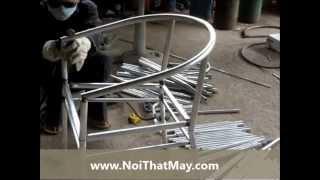 Ghế Giả Mây Ngoài Trời - Sản xuất khung ghế giả mây tại xưởng Nội Thất Minh Thy