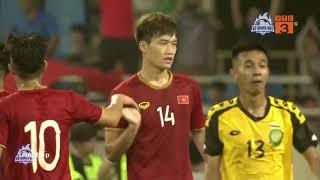 Highlights | Đương kim Á Quân U23 Việt Nam thể hiện sức mạnh hủy diệt trước Brunei | BLV Quang Huy