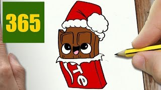 CHOCOLATE CHRISTMASW TO DRAW A XXX CUTE, Easy step by step drawing lessons for kids