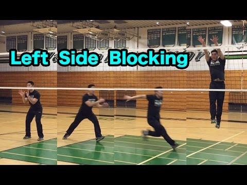 Outside Hitter Blocking Technique - How to BLOCK a Volleyball Tutorial