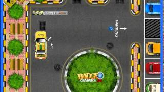 Yellow cab taxi parking game