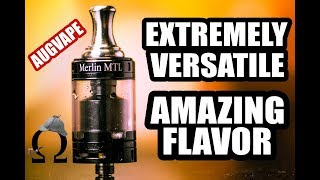 The Best Tank for Any Vaper? Merlin MTL RTA by AugVape Review - Best Flavor Tank