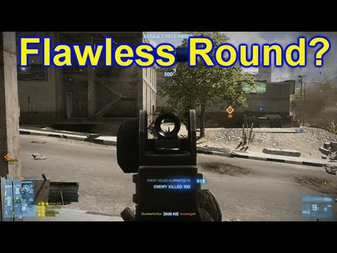 Battlefield 3 Online Gameplay - Flawless Round 20 Kill Streak