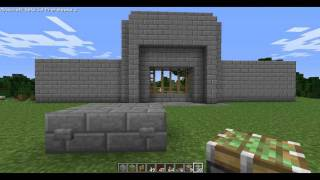 Minecraft Tutorial: Redstone Castle Gate with Pistons (Hidden Wiring)