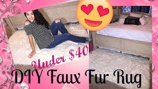DIY Faux Fur Rug Under $40 from Jo-Ann's