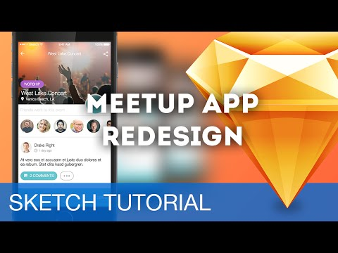 Sketch 3 Tutorial • Meetup App Redesign (iOS) • Sketchapp Tutorial & Design Workflow