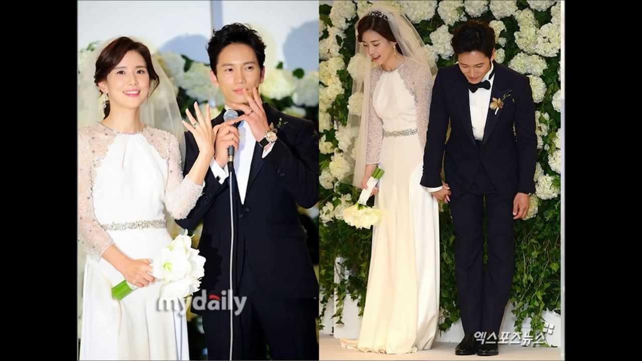Lee Bo Young & Ji Sung's Wedding Photo Album - YouTube