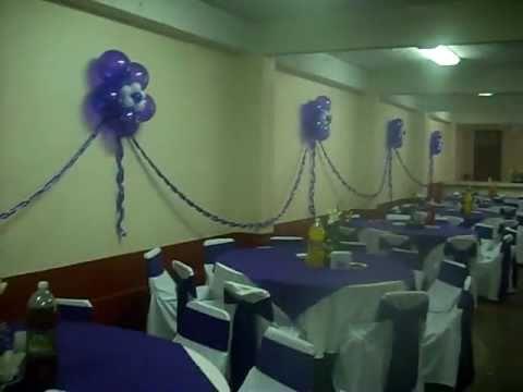 Decoracion con globos xv a os en san mateo tlaltenango cuajimalpa youtube - Decoracion con globos 50 anos ...