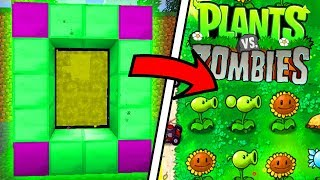 HOW TO MAKE A PORTAL TO THE PLANTS VS ZOMBIES DIMENSION IN MINECRAFT POCKET EDITION!