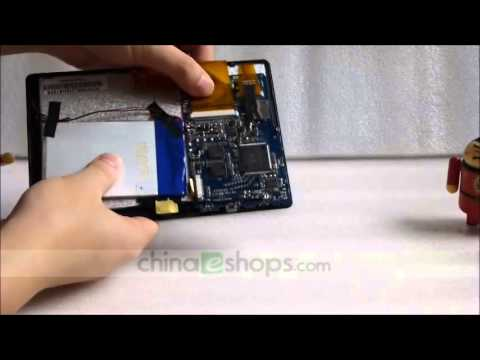 disassembly 7 inch allwinner a13 q88 android 4.0 tablet pc