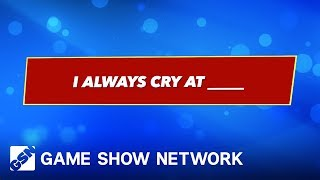 I ALWAYS Cry At... | America Says | Game Show Network