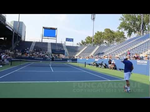 Andy Roddick / Somdev Devvarman 2013 Last Warmup Before Retirement 2012  6 / 10