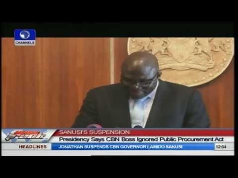 Sanusi's Suspension Will Not Affect Nigeria's Economy - Presidency
