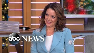 "Kimberly Williams-Paisley said her husband Brad Paisley ""stalked"" her"