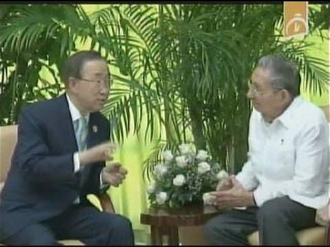Cuba: se reune Raúl Castro con Ban Ki Moon