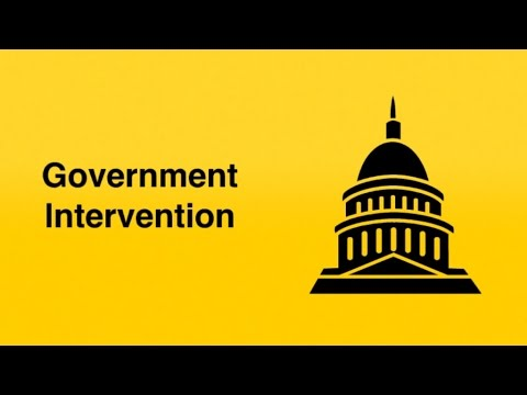 Reasons for and against Government intervention