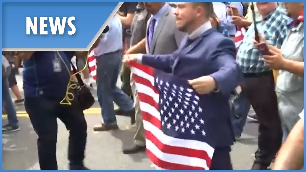 """""""Unite the Right"""" rally in Washington met with opposition"""
