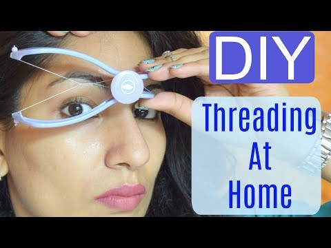 DIY Facial Hair Threading At Home   Slique Hair Threading System  Review+Demo