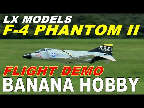 LX Models / Banana Hobby F-4  PHANTOM II FULL Flight Review & Demo By: RCINFORMER