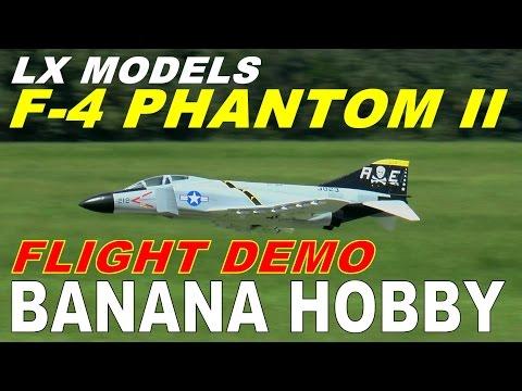 LX Models / Banana Hobby F-4  PHANTOM II FULL Flight Review & Demo By: RCINFORMER