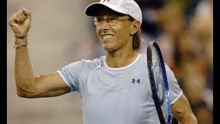 Navratilova, Paes Vs Sharapova, Mirnyi US Open 2004 Highlights