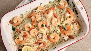 10 Minute Oven Roasted Shrimp Scampi Recipe - Laura Vitale - Laura in the Kitchen Episode 1005