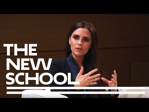 Victoria Beckham in Conversation with Parsons Fashion Dean Simon Collins