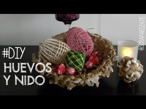 Pascua huevos y nido decoraci n bird nest and eggs youtube for Nido de pascua