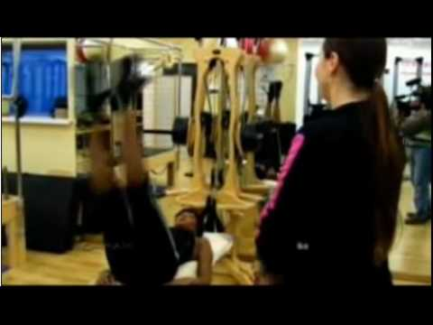 Naomi Campbell Does Gyrotonic exercise Video