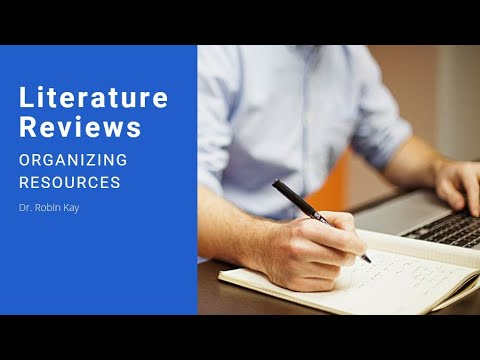 Organizing Information From Literature Review Articles