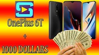 Sorteio de celular OnePlus 6T + 1000 dólares