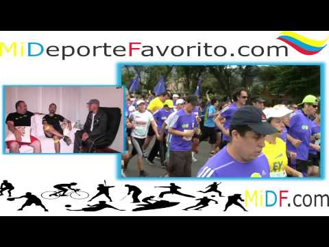 Felipe y Alex  Media Maratón Bogotá 10k 2015