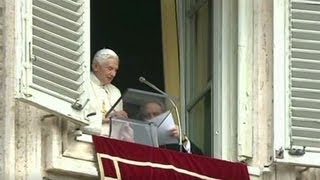 Vatican scandal before Pope resigns 2/16/13